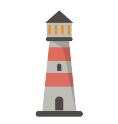 Lighthouse guide nautical sea vector