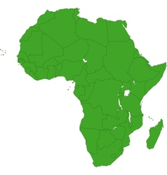 Green africa map vector