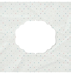 Frame on the background of crumpled paper vector image