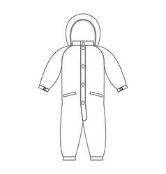 Rompers template scheme childrens clothing line vector