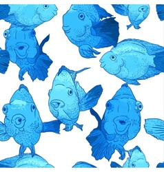 Colorful seamless background with fish vector