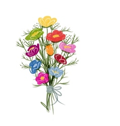 Floral bouquet sketch for your design vector