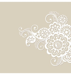 Flower ornament background vector