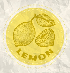 Lemon vintage paper vector
