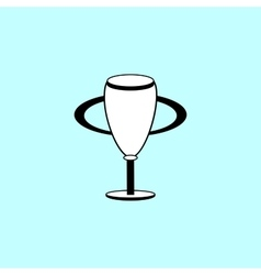 Champion cup black and white silhouette sign icon vector