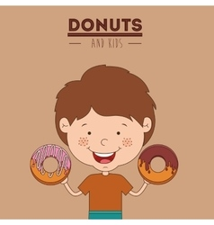 Donuts and kids design vector