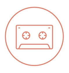 Cassette tape line icon vector