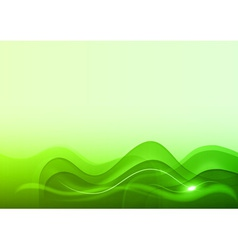 Wave neon light white green vector