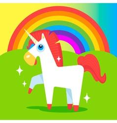 Happy unicorn vector