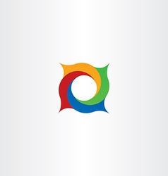 Abstract circle in square spiral logo vector