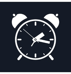 Alarm clock isolated on black background vector