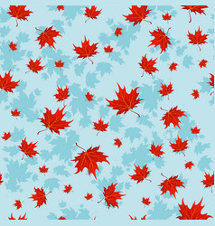Autumn red leaves vector