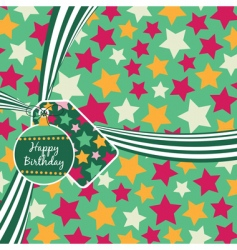 birthday ribbon vector image vector image