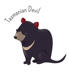 Cartoon Tasmanian devil isolated on white vector image