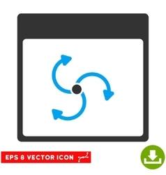 Cyclone calendar page eps icon vector