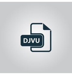 DJVU ebook file extension icon vector image