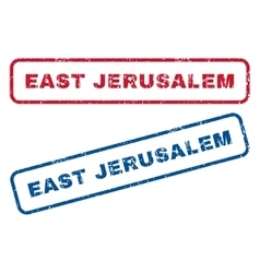 East jerusalem rubber stamps vector