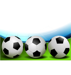 Football - three balls vector image