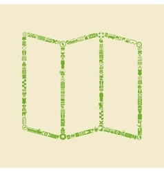 geometric icon vector image