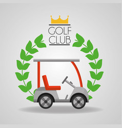 Golf club car sport vehicle badge vector
