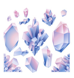 graphic pastel crystals vector image