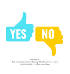 Hand voting with yes and no vector