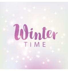 hello winter on sun background vector image vector image