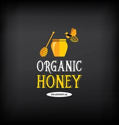 Honey badge and label Abstract bee design vector image vector image