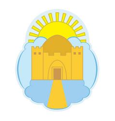 Logo depicting a heavenly temple vector