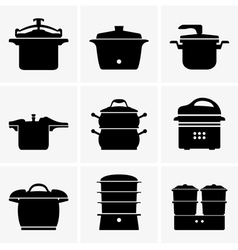 Pressure cookers vector image vector image