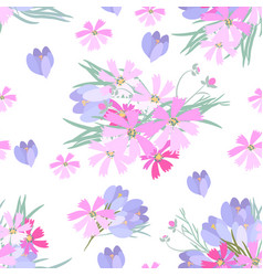 retro style with flowers vector image