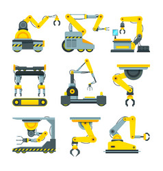 robotic hands for machine industry vector image vector image