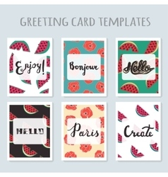 Set of 6 ready-made invitations gift cards vector