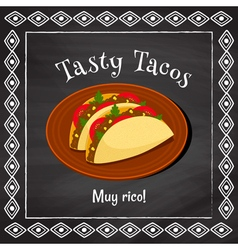 tasty tacos vector image vector image
