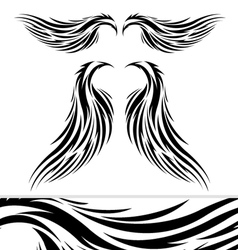 tattoo tribal wings vector image