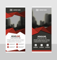 Red Business Roll Up Banner flat design template vector image