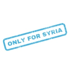 Only for syria rubber stamp vector