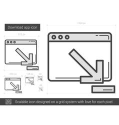 Download app line icon vector