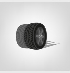 tire shop logo vector image
