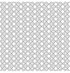 black and white seamless linear flourish pattern vector image