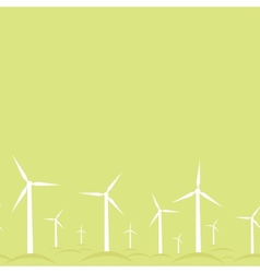 Ecological modern windmills horizontal seamless vector image