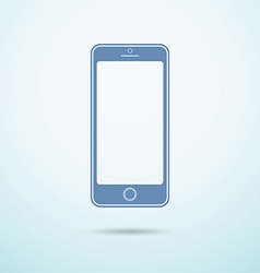 New smartphone flat icon on blue background vector