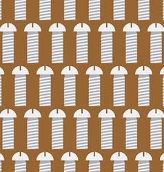 Bolts seamless pattern iron fasteners background vector