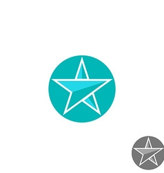 Star logo round graphic shape mockup design vector