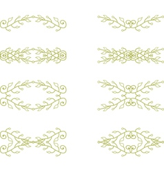 Floral branch elements vector