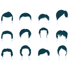 Set of mans hairstyles icons vector image