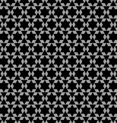 Black and white arabic seamless pattern with stars vector