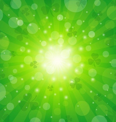 Clover sunburst background vector