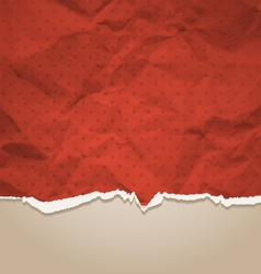 Crumpled torn paper vector