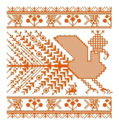 Russian old embroidery and patterns vector